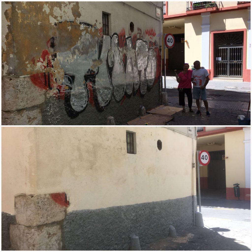 Calle Sargento libre de pintadas